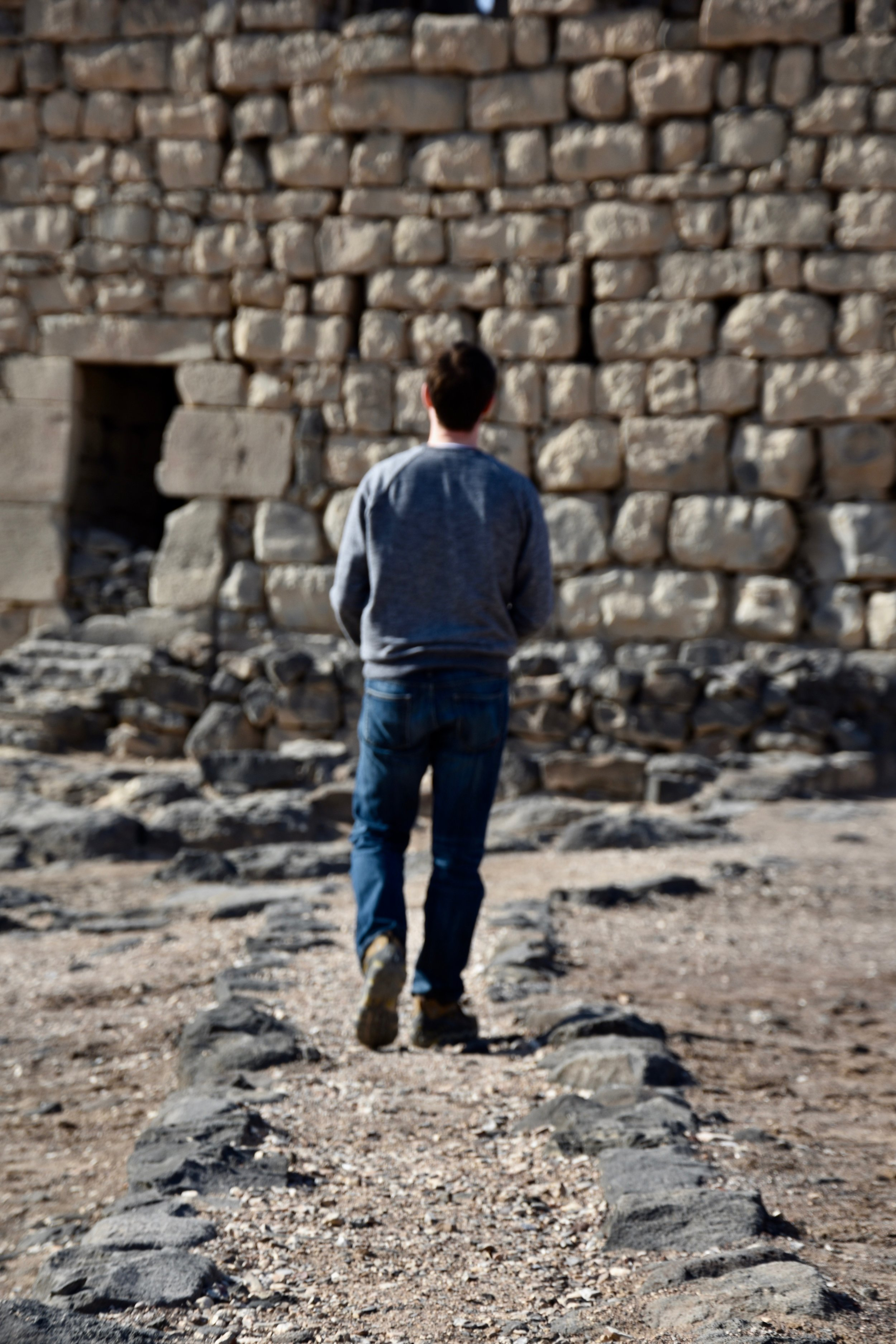 Exploring the well-preserved desert castle in Azraq Jordan