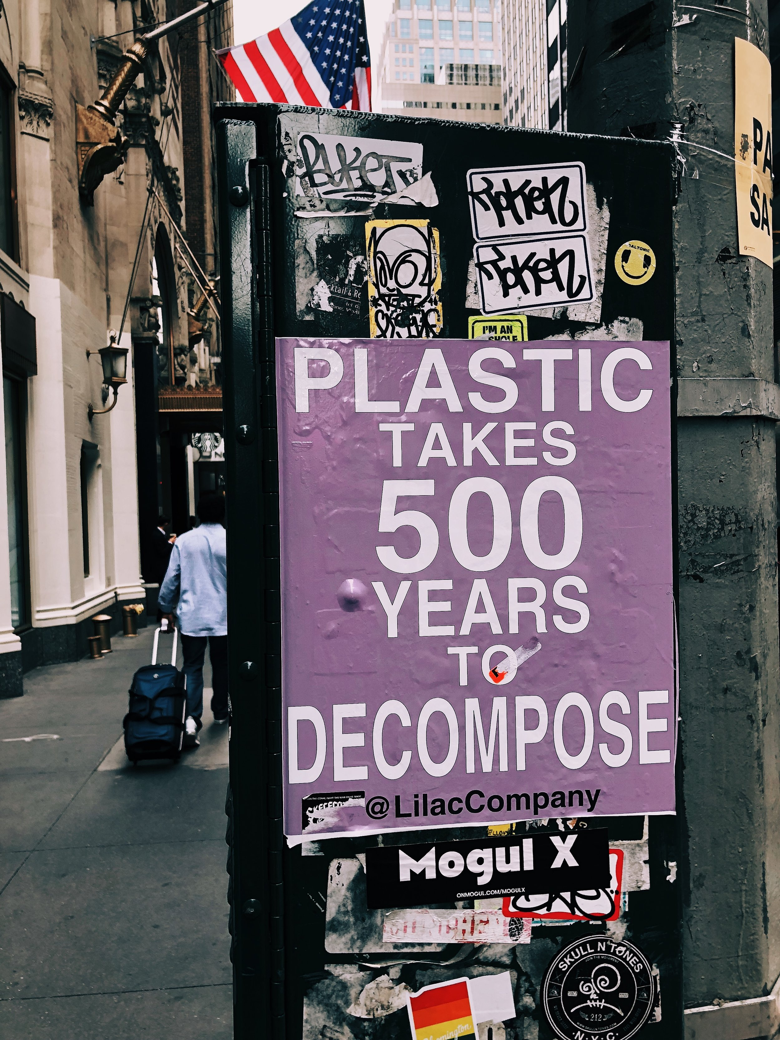 plastic takes 500 years to decompose