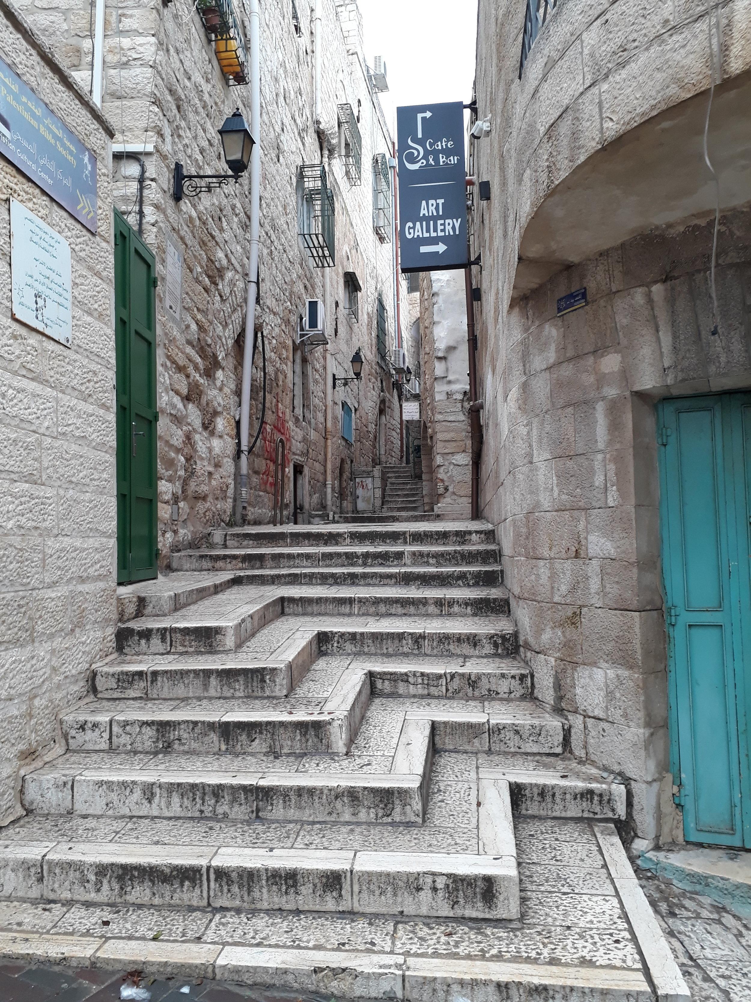Streets of historic Bethlehem Palestine
