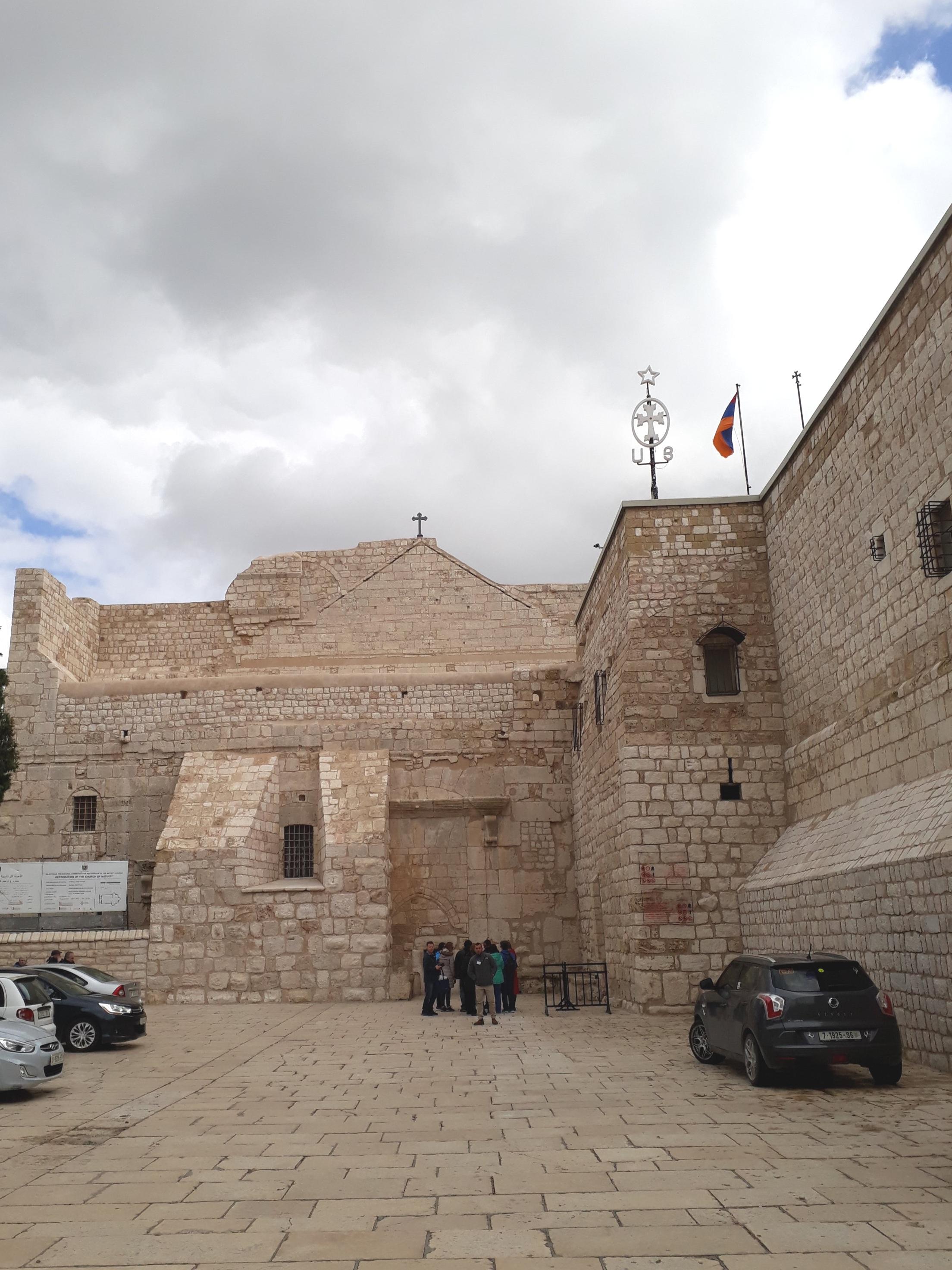 Entrance to the church of the nativity bethlehem palestine