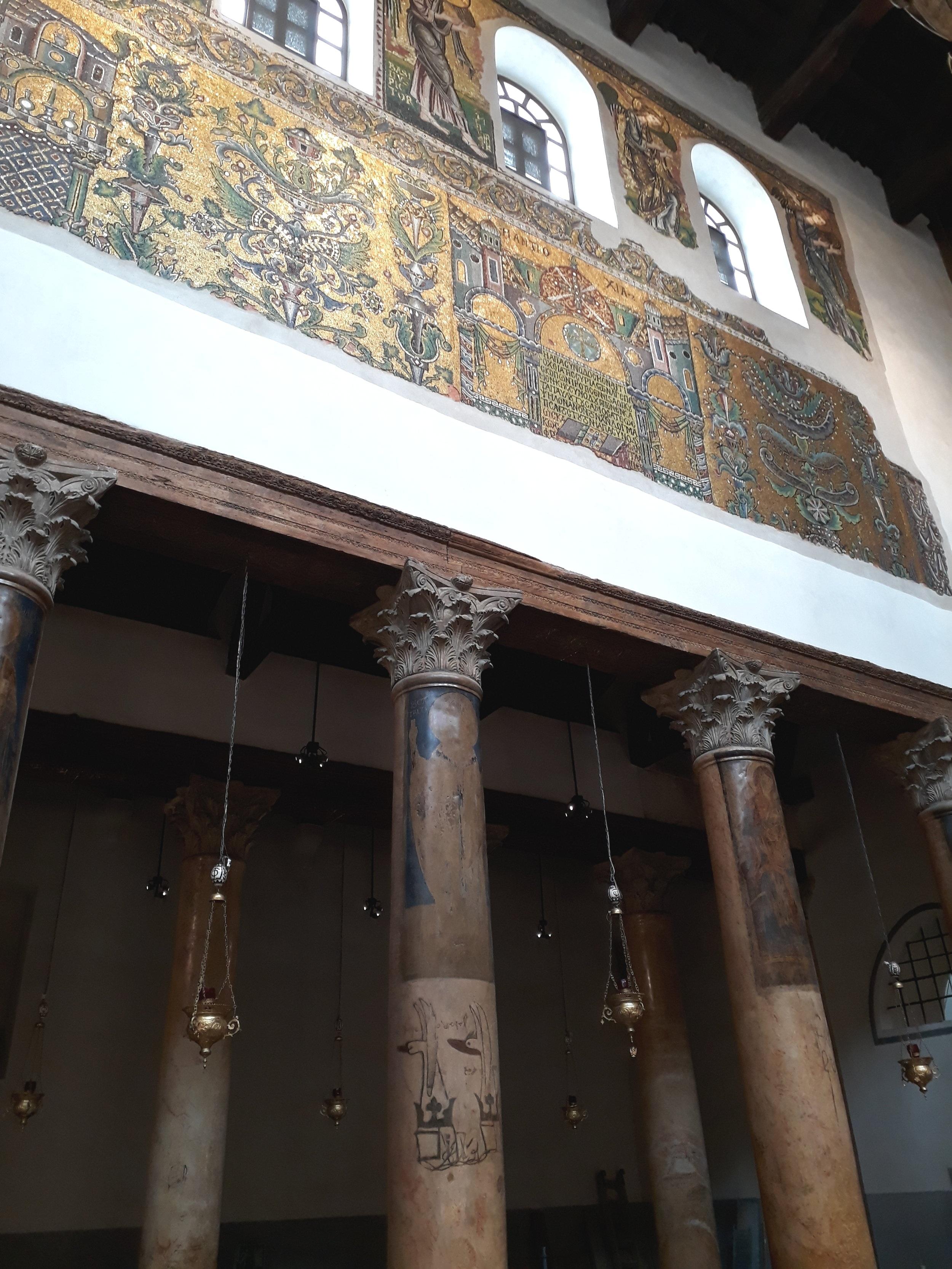 inside the church of the nativity bethlehem palestine