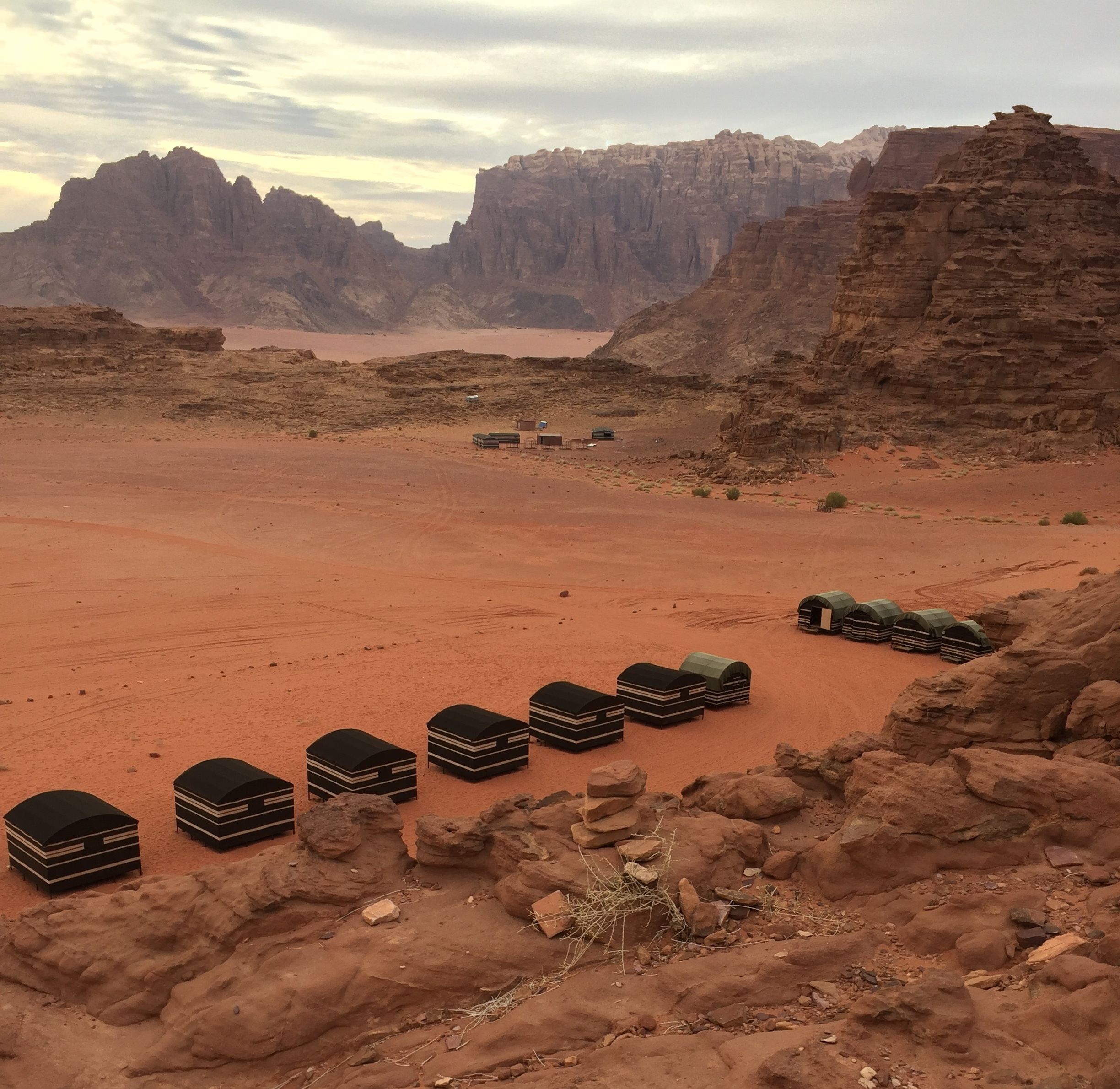 view from our bedouin camp in wadi rum