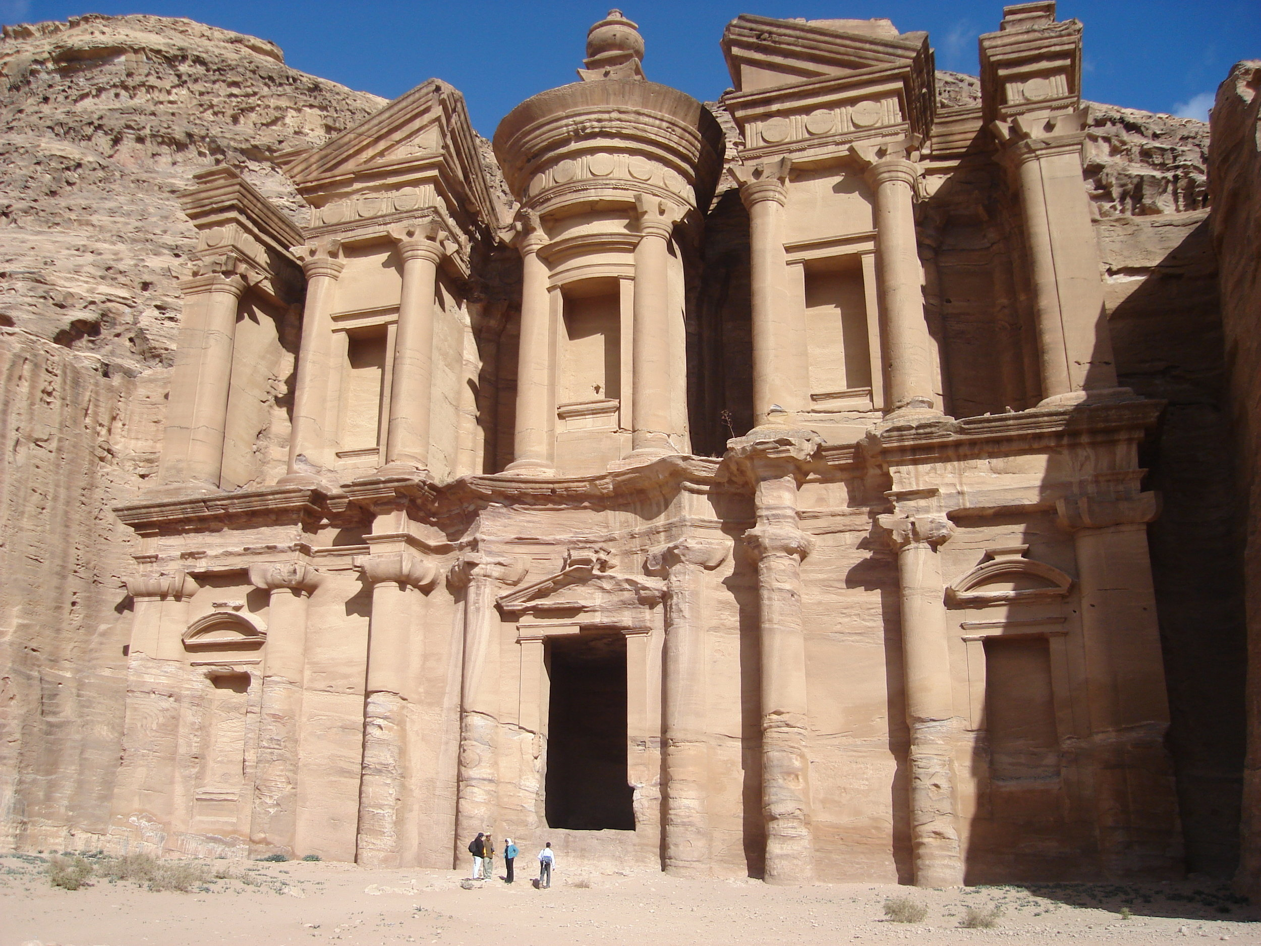 The impressive Monastery at Petra