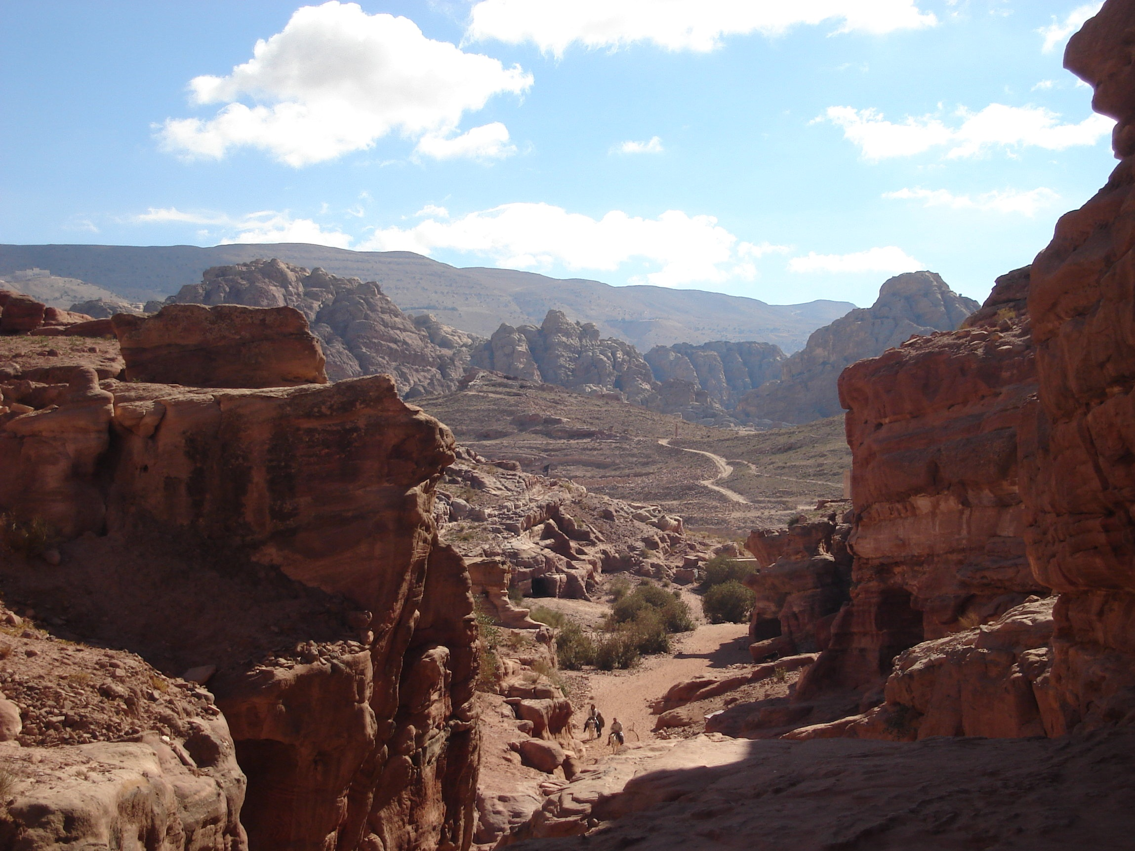 The view from the Monastery at Petra