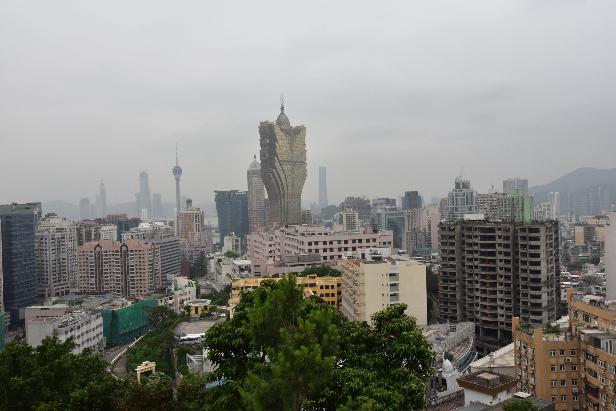 Macau skyline from Guia Fortress