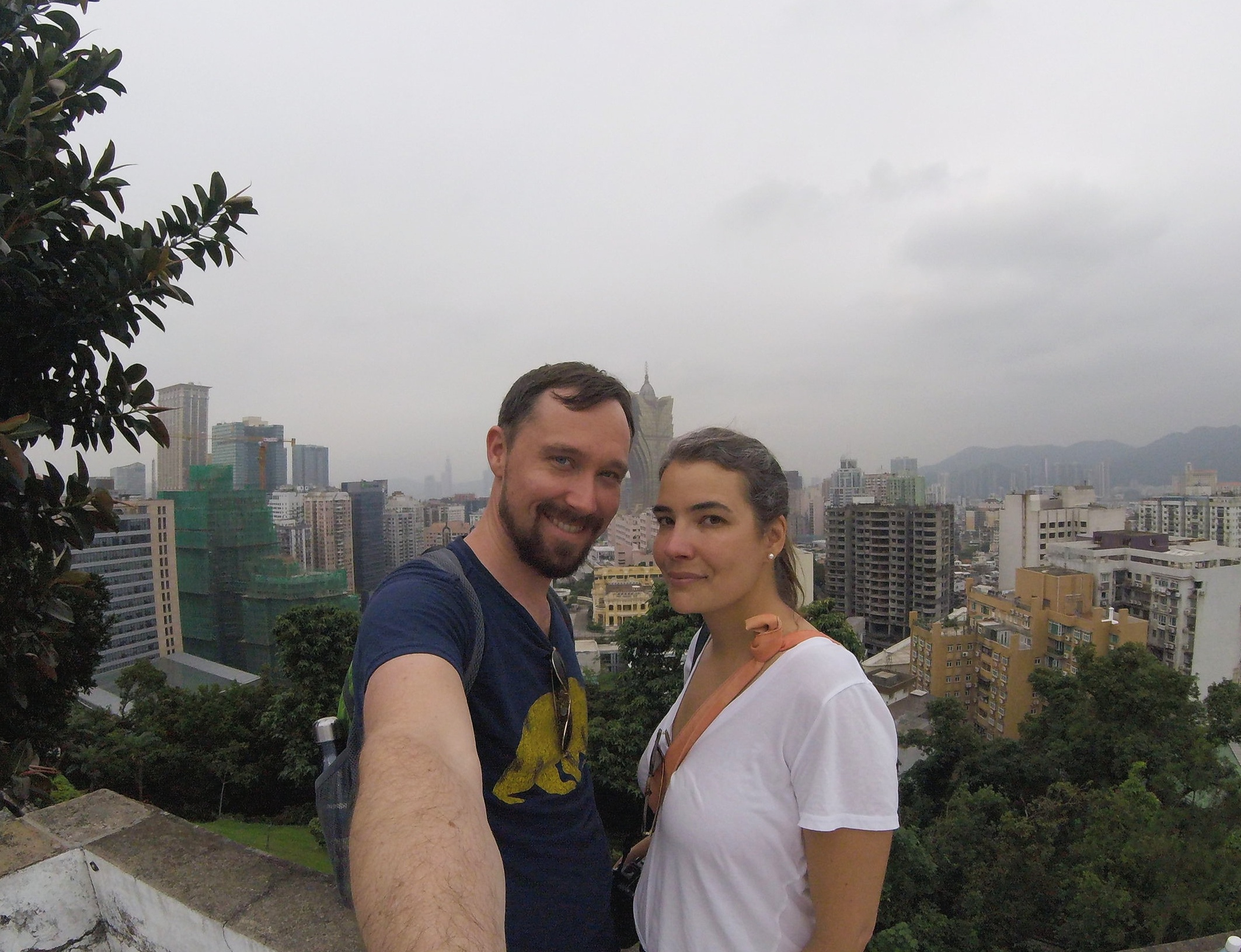 View from Guia Lighhouse and Fortress over Macau