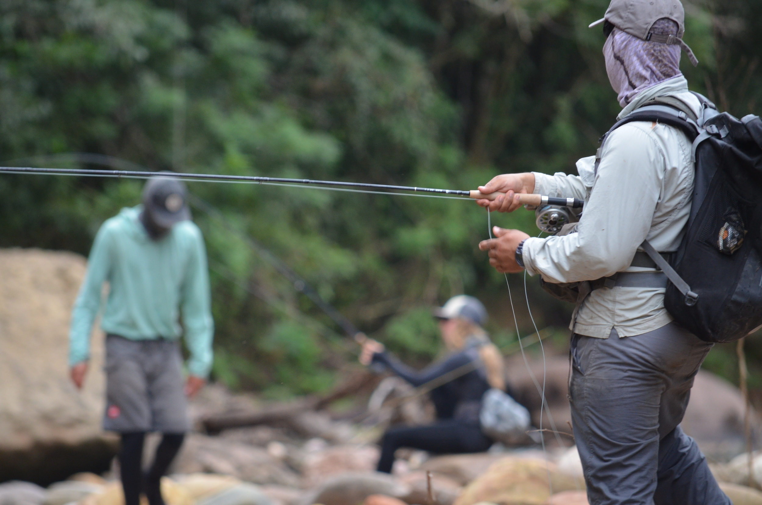 Fig. 3  Fishing with local guide Leonel Rojas