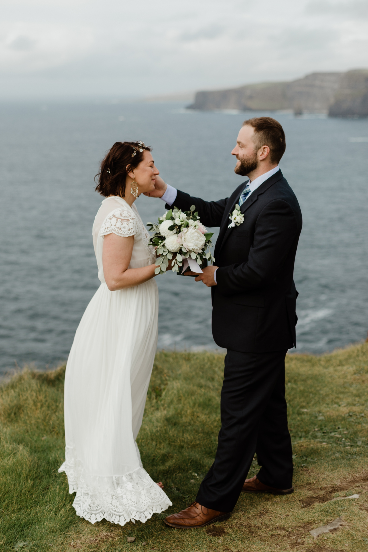 Kallie + Brian - cliffs of moher ireland elopement