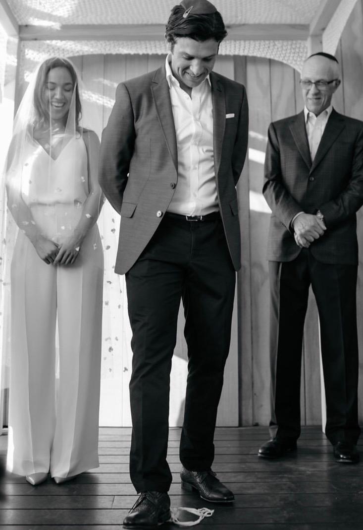 Bride: Anna L | Gown: Bespoke Cami & Pants| Photographer: Ella Mack