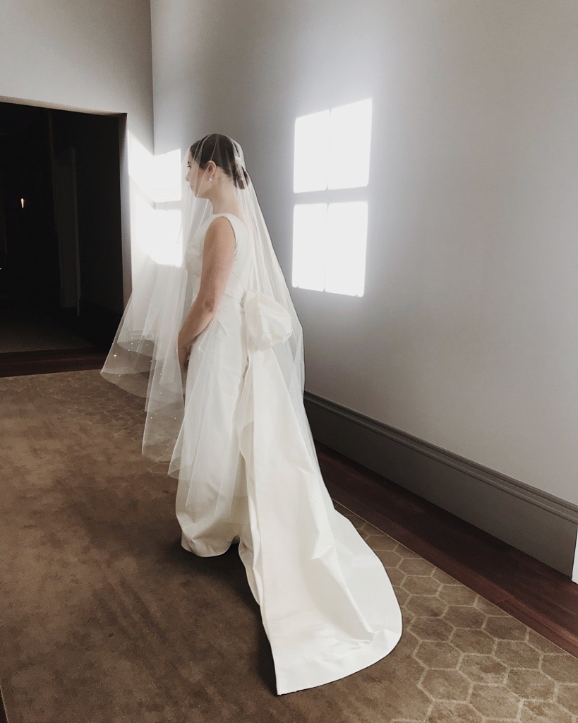 Bride: Daniella | Gown: Bespoke Stuctural Gown