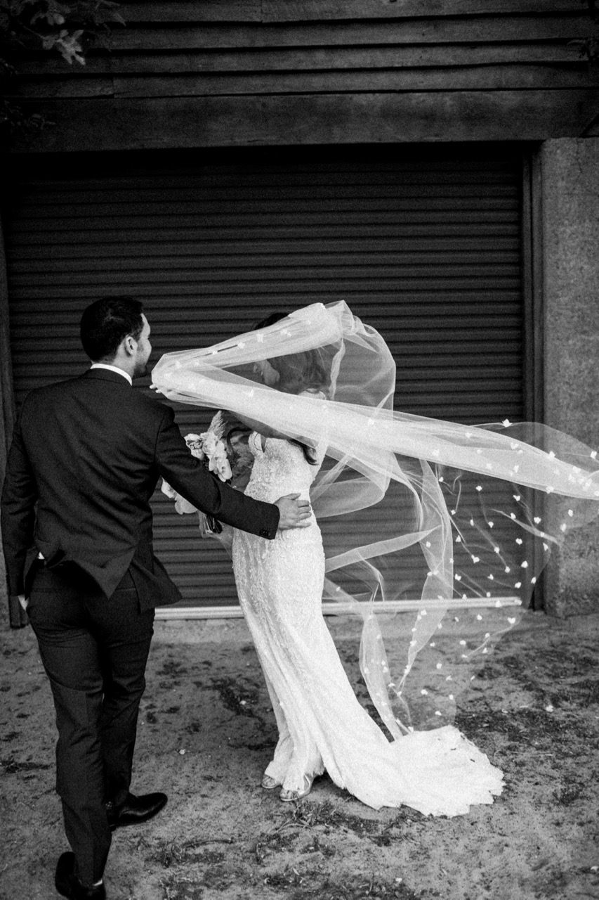 Bride: Emilie | Gown: Bespoke Couture Gown, Emilie Veil | Photographer: Natasja Kremers