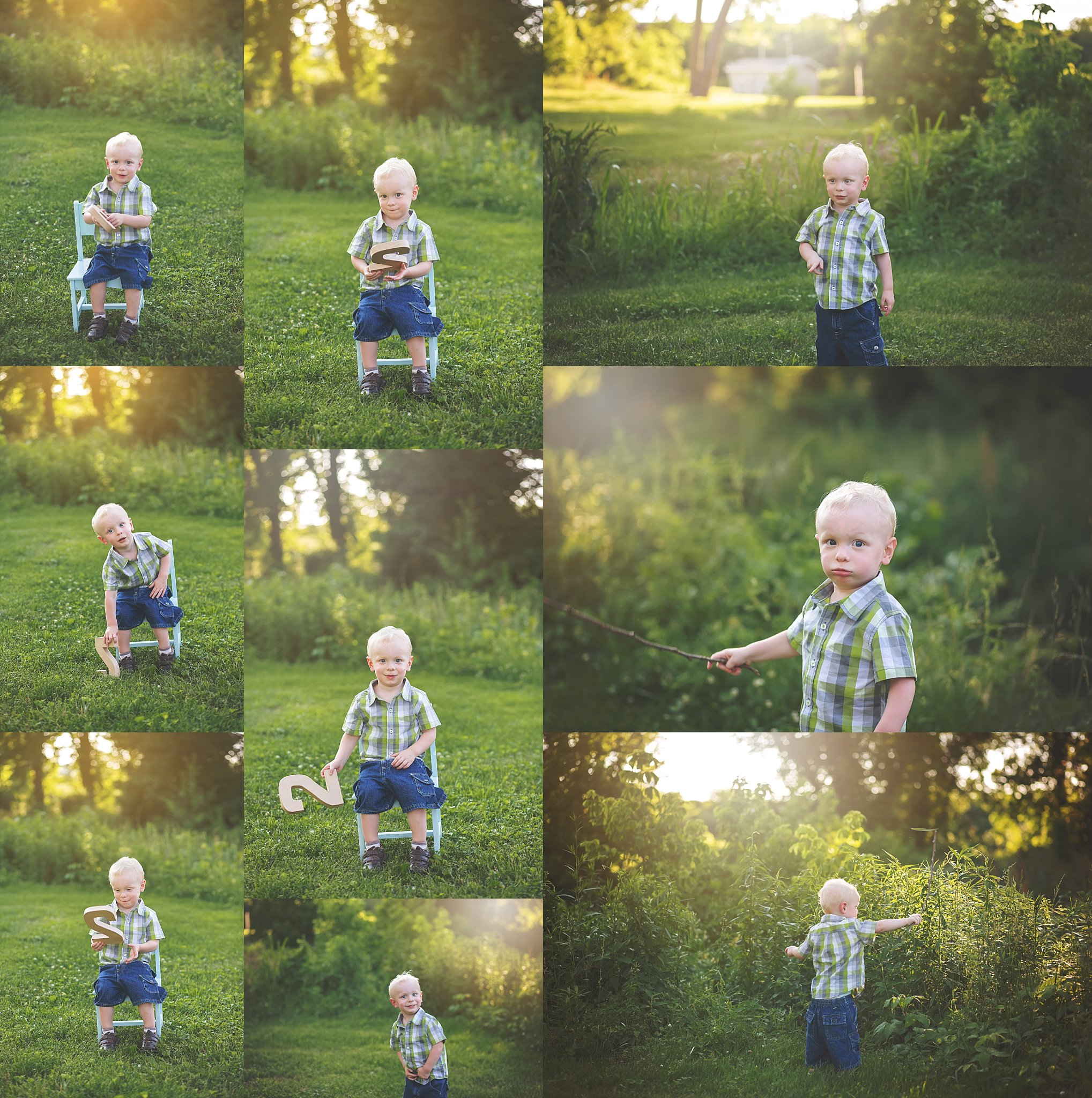 Two Year Old Portraits Outdoors | Cheryl Logan Photography