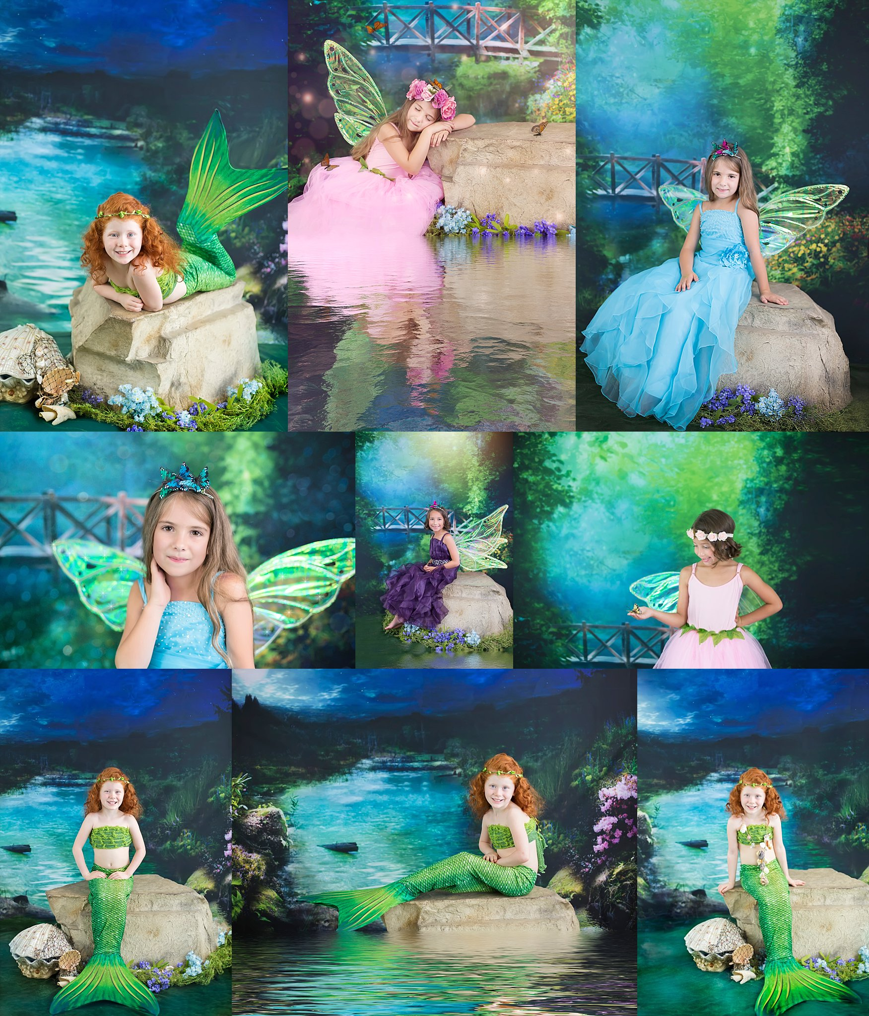 Fairytale Portraits - Magical and fun! I've heard little ones say they feel like a real mermaid! This year I'll be offering mermaids and fairies together. So your little one can choose their favorite!February Theme of the Month