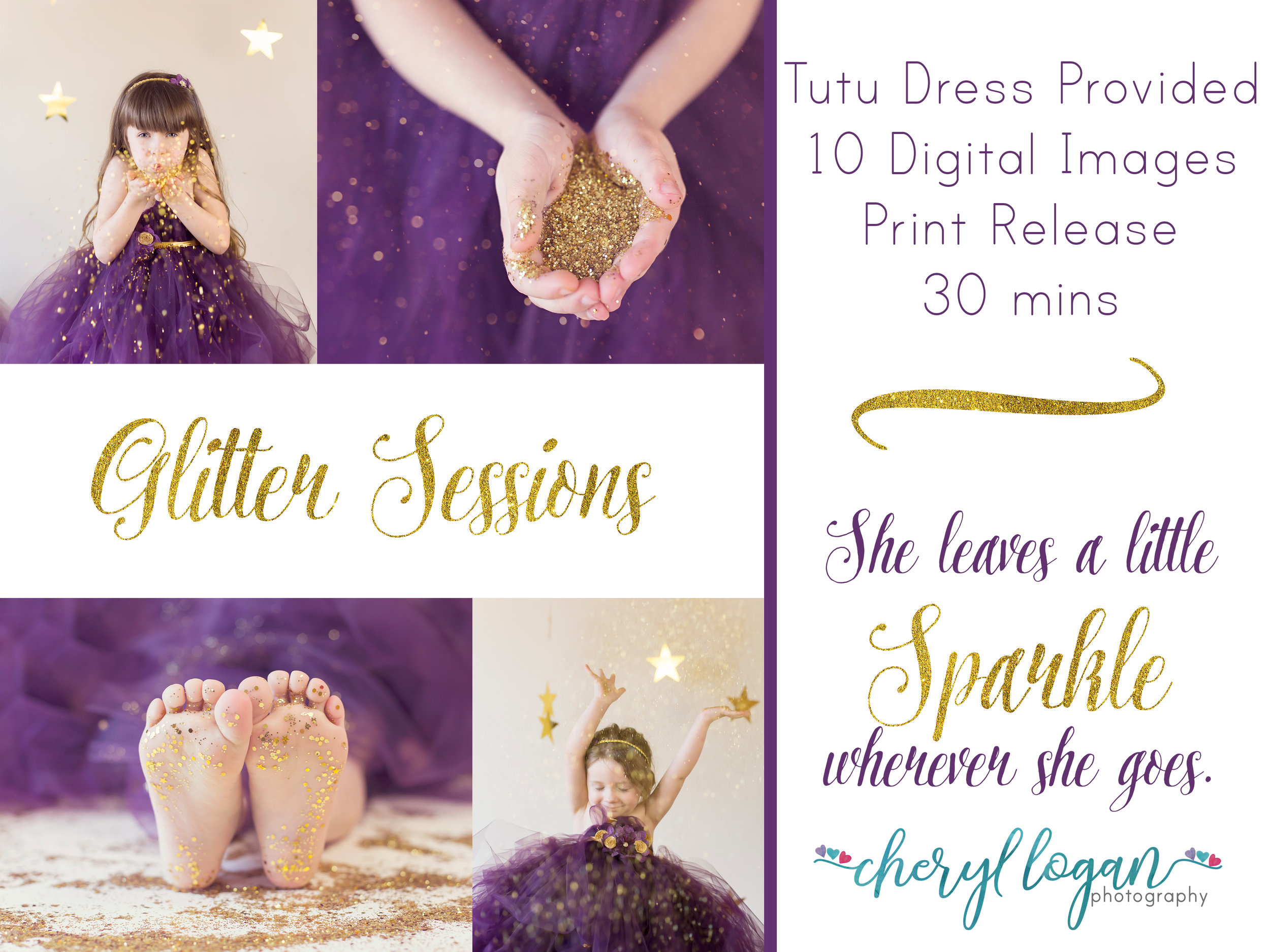 Glitter Minis - Glitter minis are magical! Your little one will get to play in glitter while dressed like a princess! (Large Grain and Confetti Sized for Safety). I have a variety of boutique dresses available.March Theme of the Month.