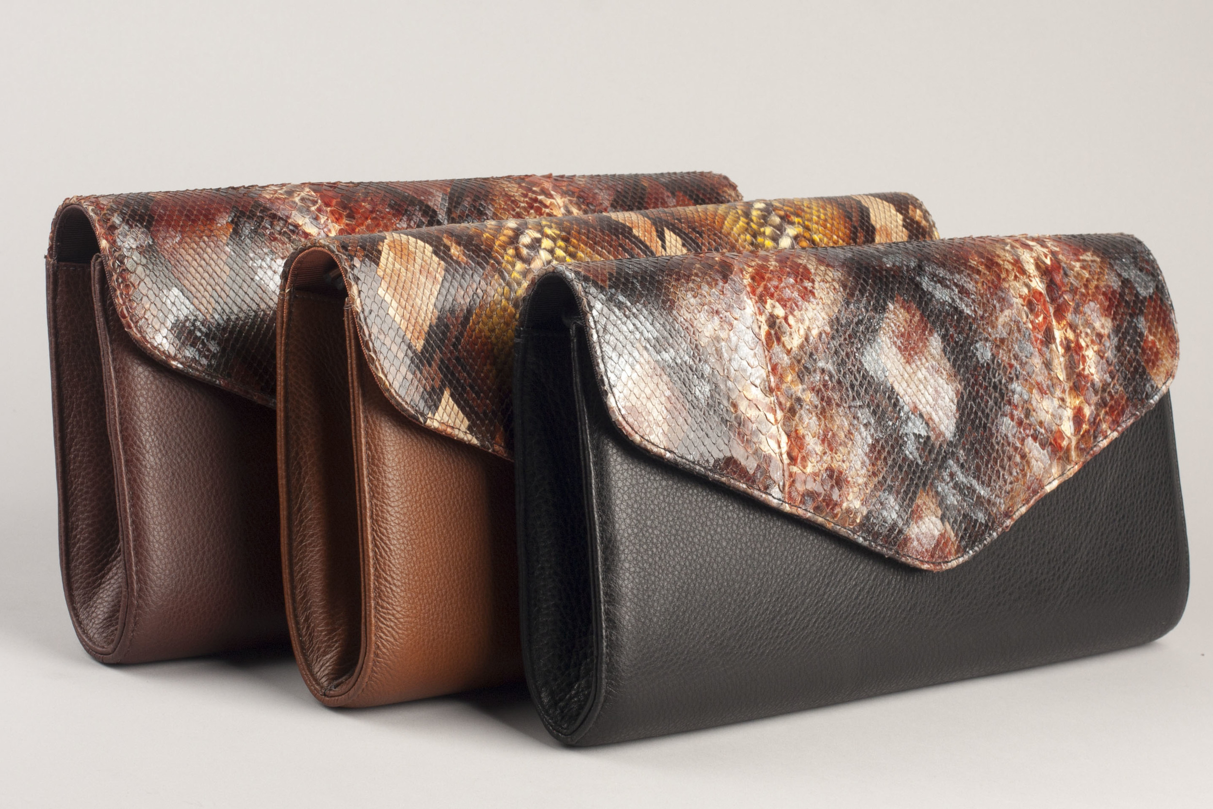 Painted Python Clutches