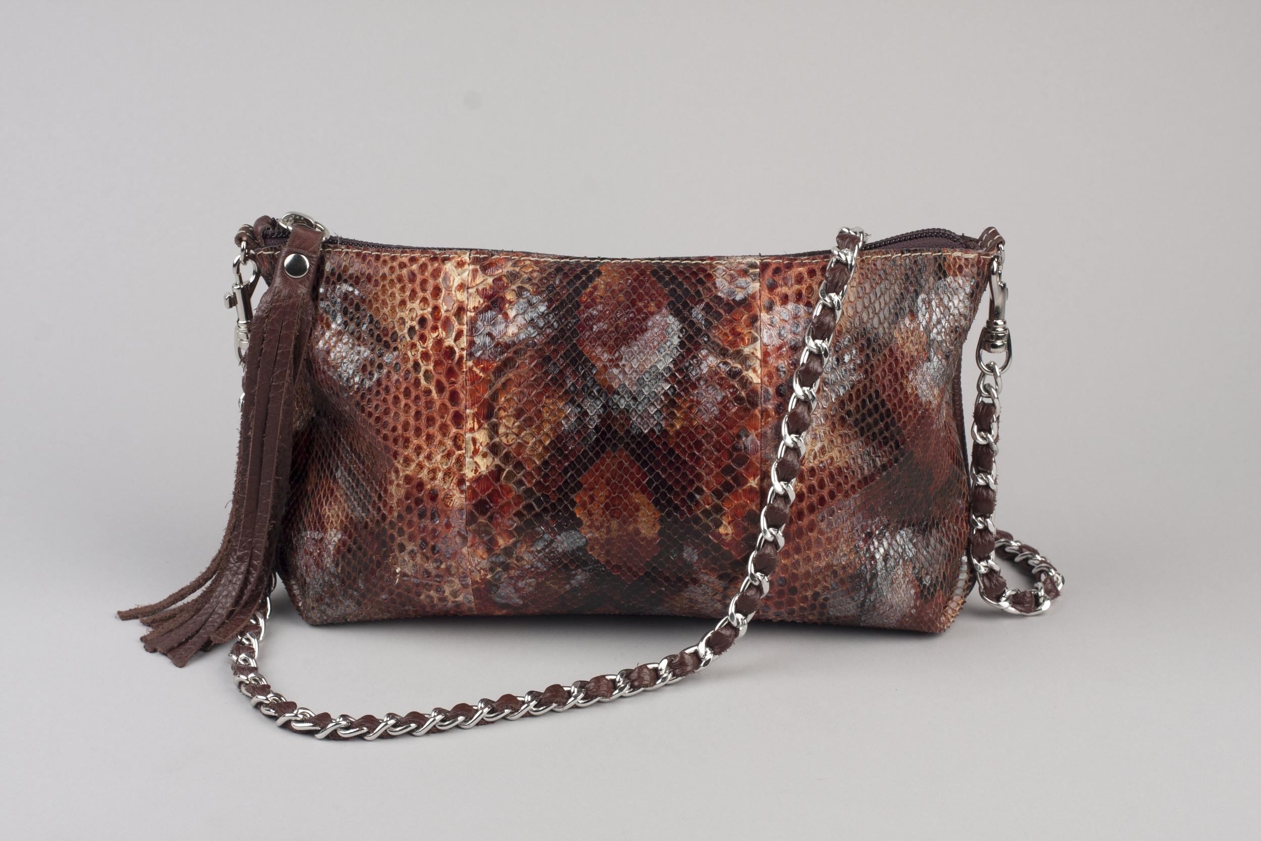 Painted Python Possible Bag - Mahogany