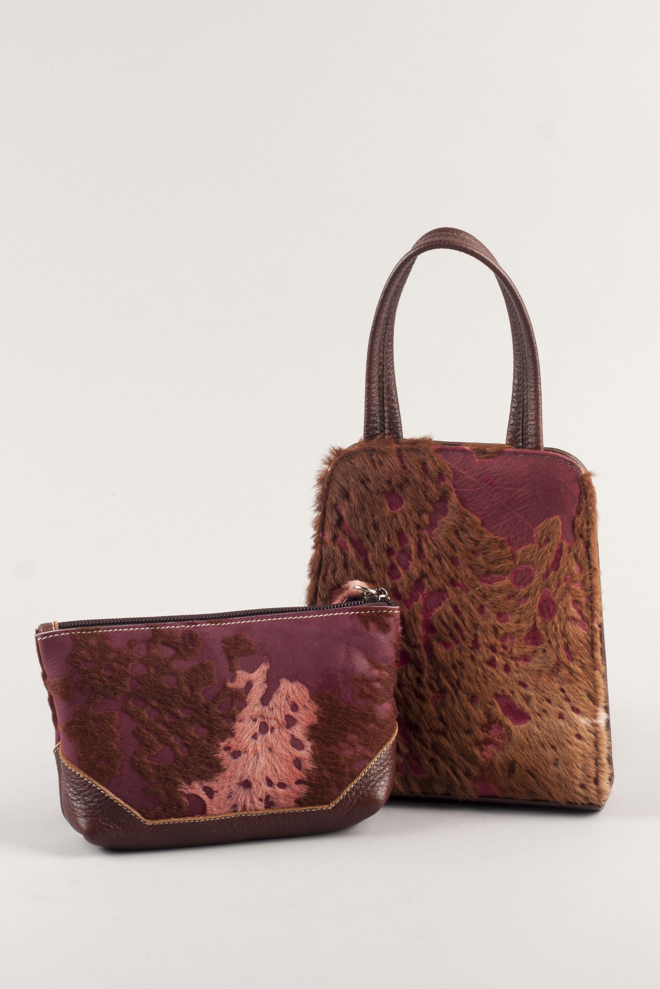 Jackson Day Bag & Wristlet - Burgundy/Mahogany