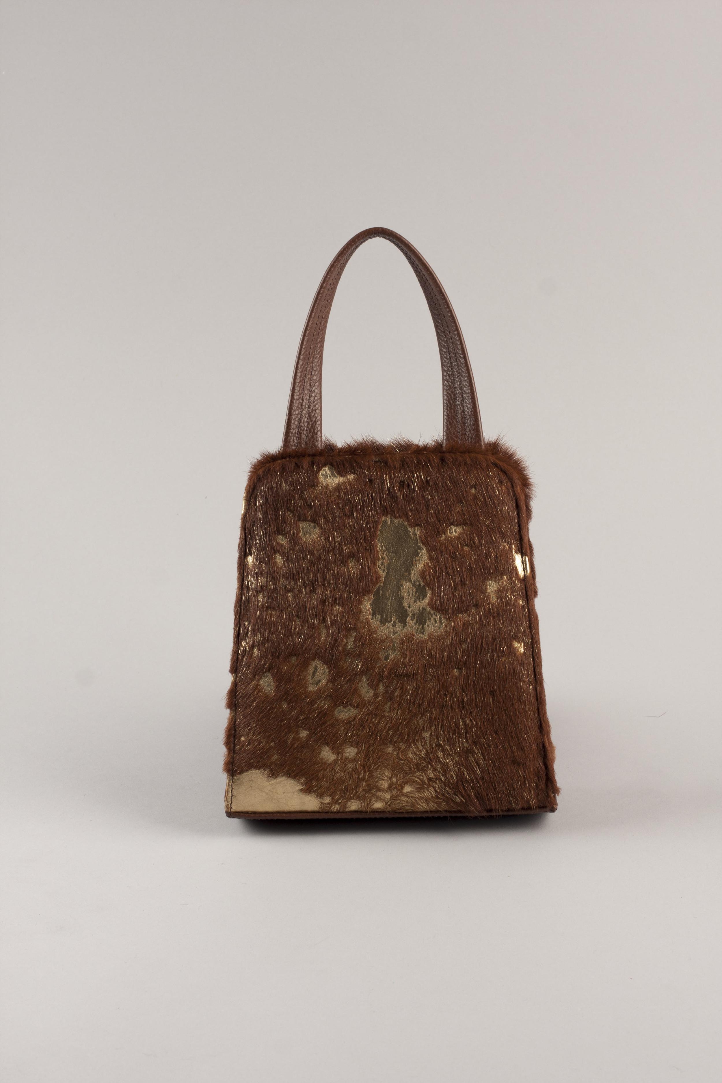 Jackson Day Bag - Gold/Brown