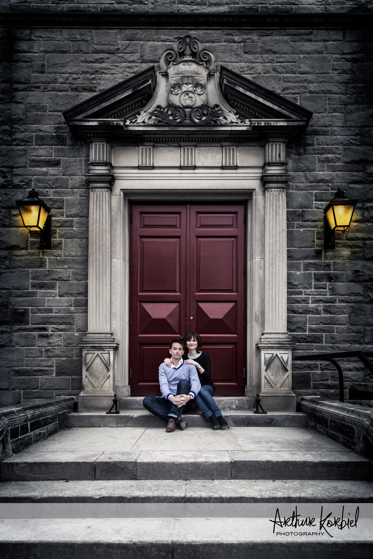 Arthur Korbiel Photography - London Wedding Photographer - UWO Gothic Red Door Engagement.jpg
