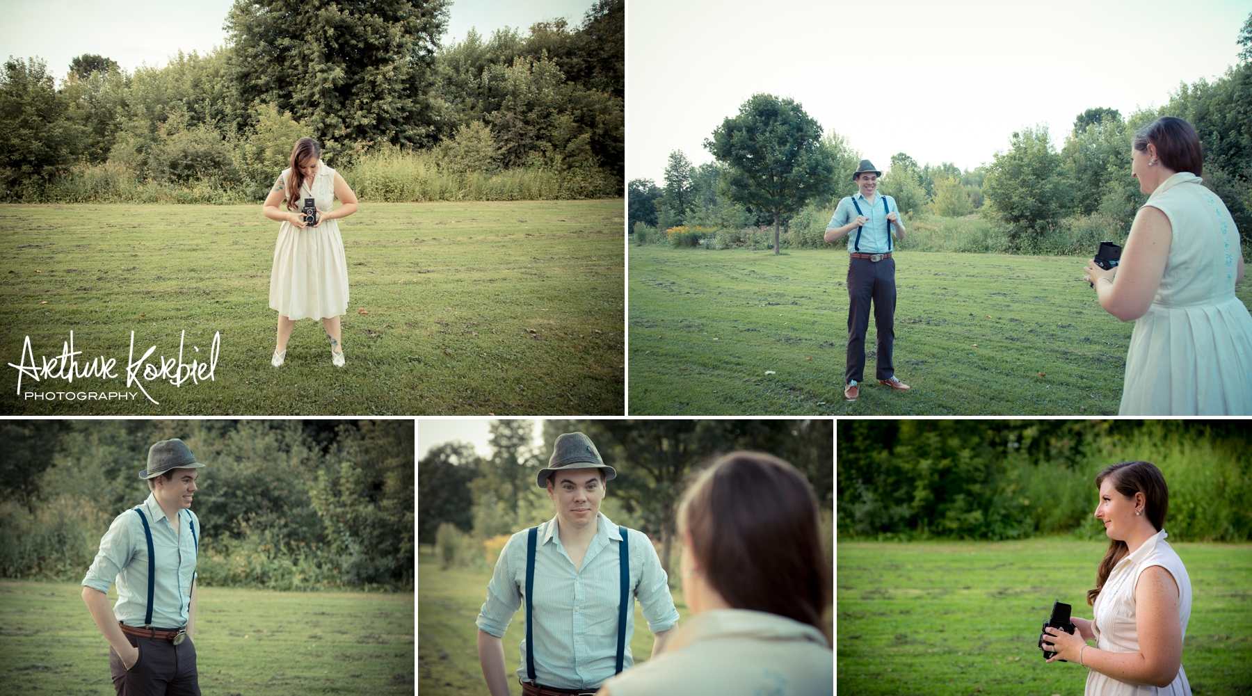 Arthur Korbiel Photography - London Engagement Wedding Photographer - Vintage - Bag Lady Variety - Gibbons Park_012.jpg