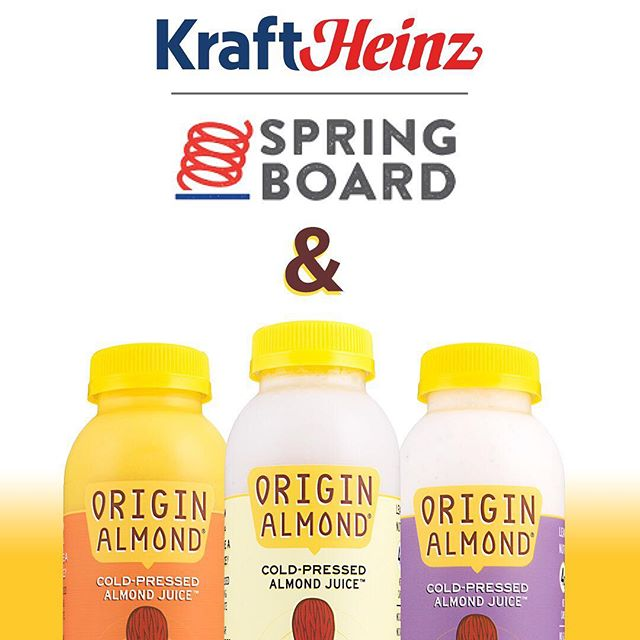 So this just happened.  We're excited to announce that we've been selected by the Kraft Heinz Company to join its Springboard Incubator Program.  We look forward to working with Kraft Heinz to nurture & scale our Cold-Pressed Almond Juices and help elminate more excess sugar from the American diet. Check out the article link in the bio!