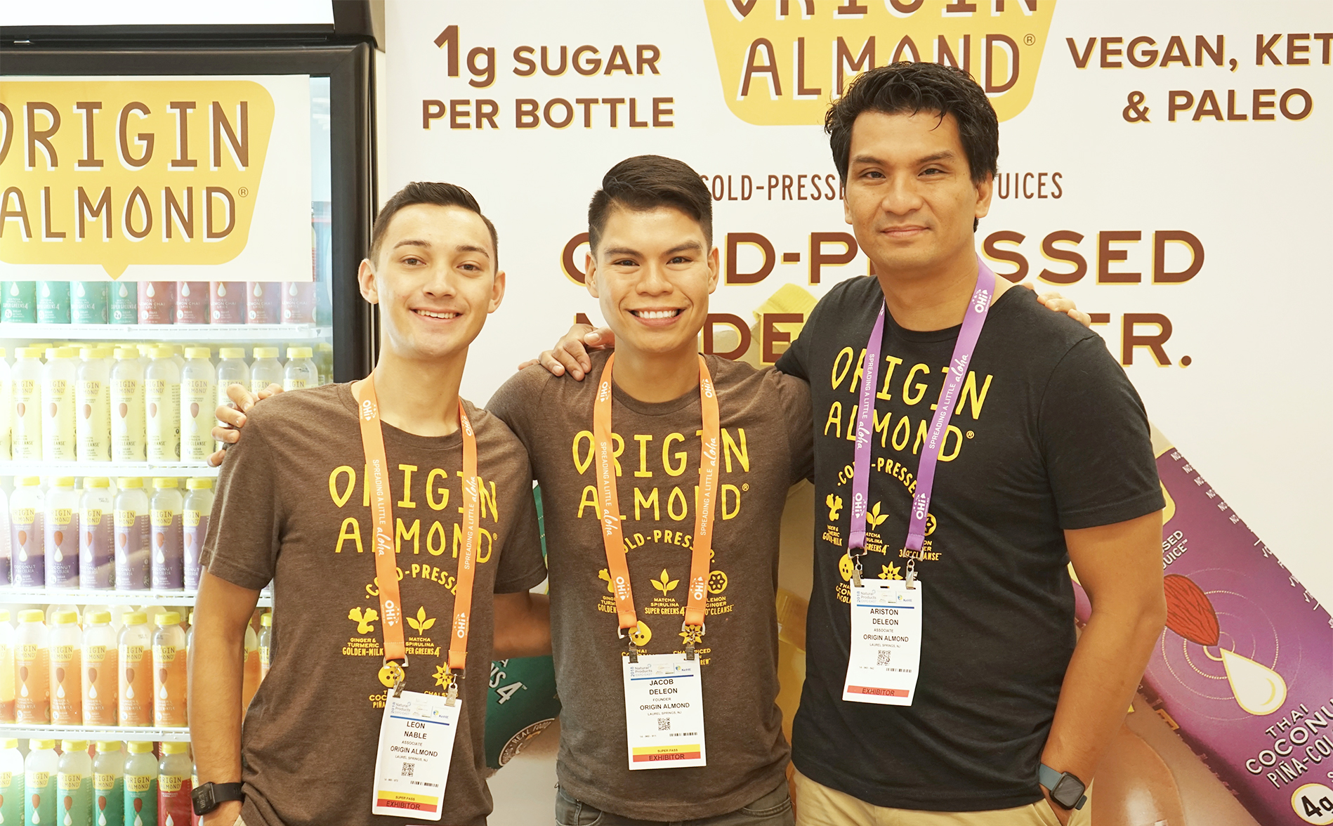 Origin Almond - Jake, Brother, and team member Exhibiting at Expo East (Natural Foods Trade Show).jpg