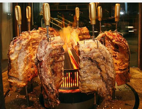 Churrascaria Vento Haragano meat spit