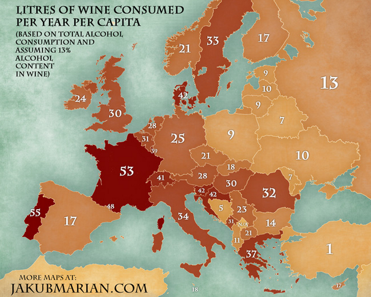 european wine consumption