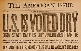 Prohibition newspaper article
