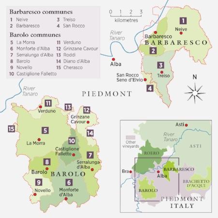 barolo barbaresco Piedmont wine region