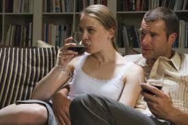parents drinking wine