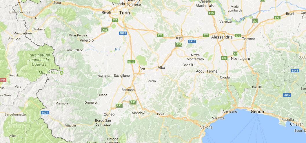 Piedmont map Italy