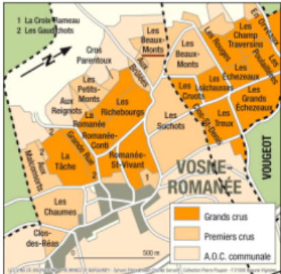 Vosne-Romanée map
