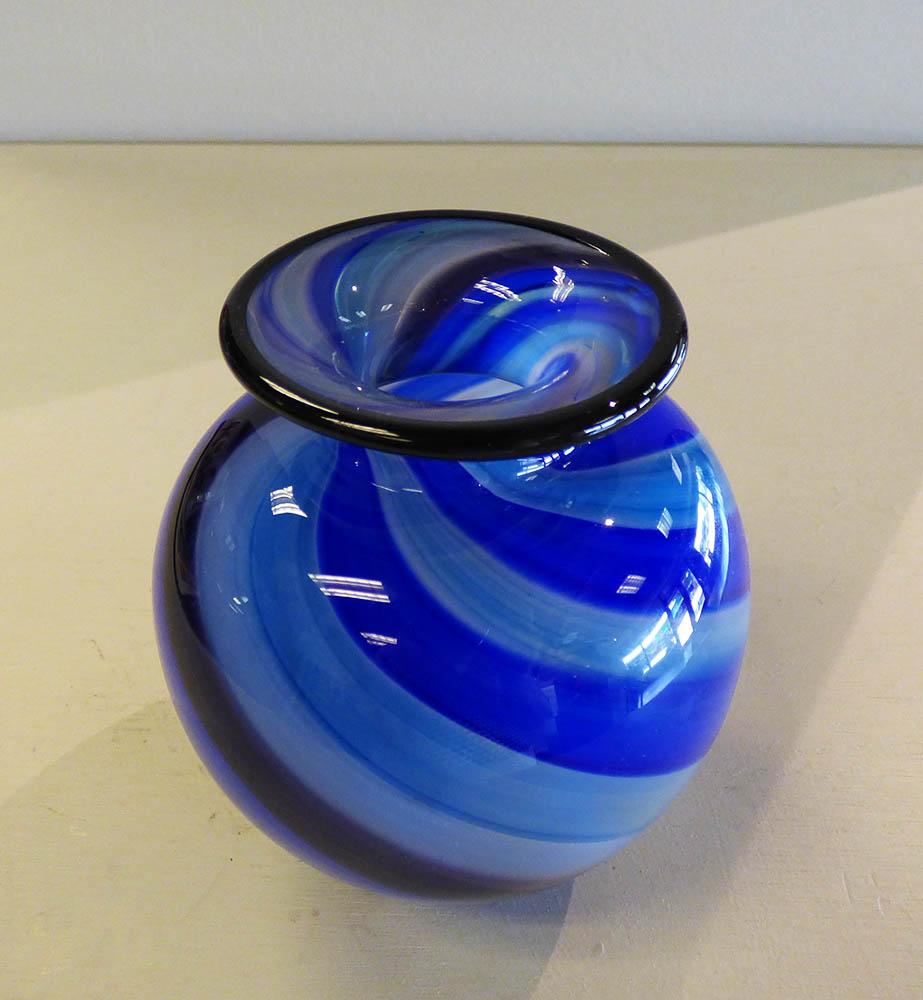 Twisted Canes Blue Hunny Pot Vase (13-23250)