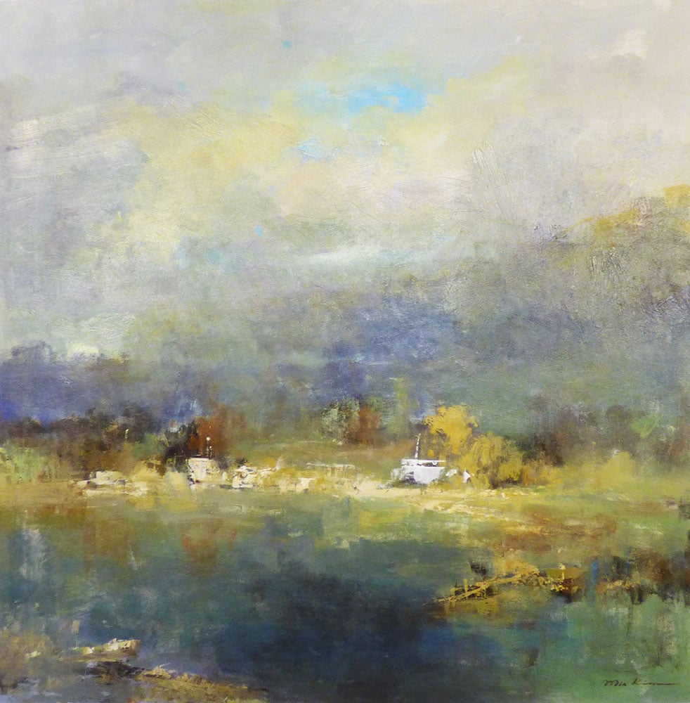 SOLD Landscape with Boats (16-24077)