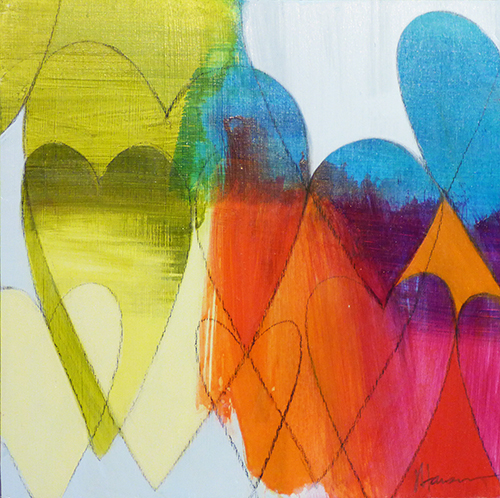 The bright, happy colors of Julie Hansen's Heart Series pieces are a perfect gift for Valentine's Day.