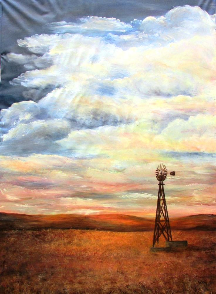 Windmill in the Flint Hills (16-24161)