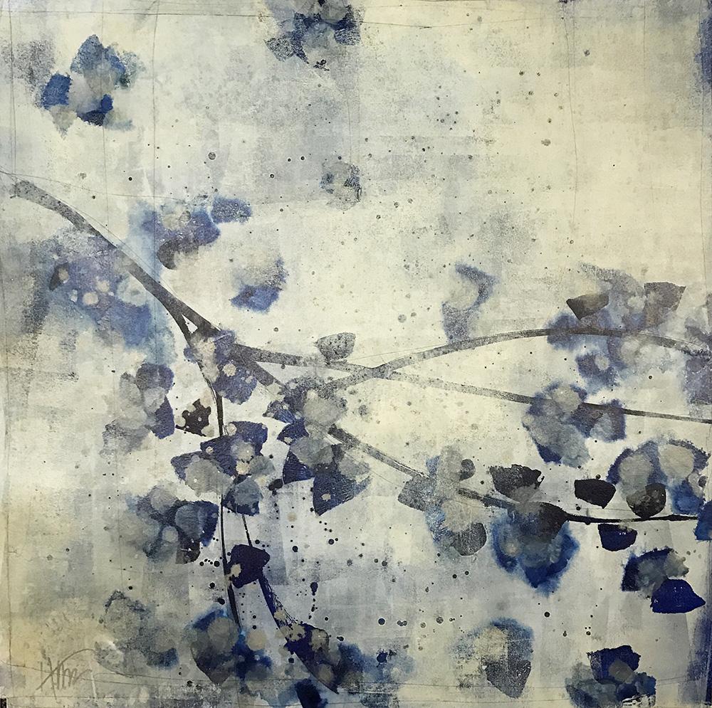 """Porcelain Bloom Indigo II"" 17-24582"
