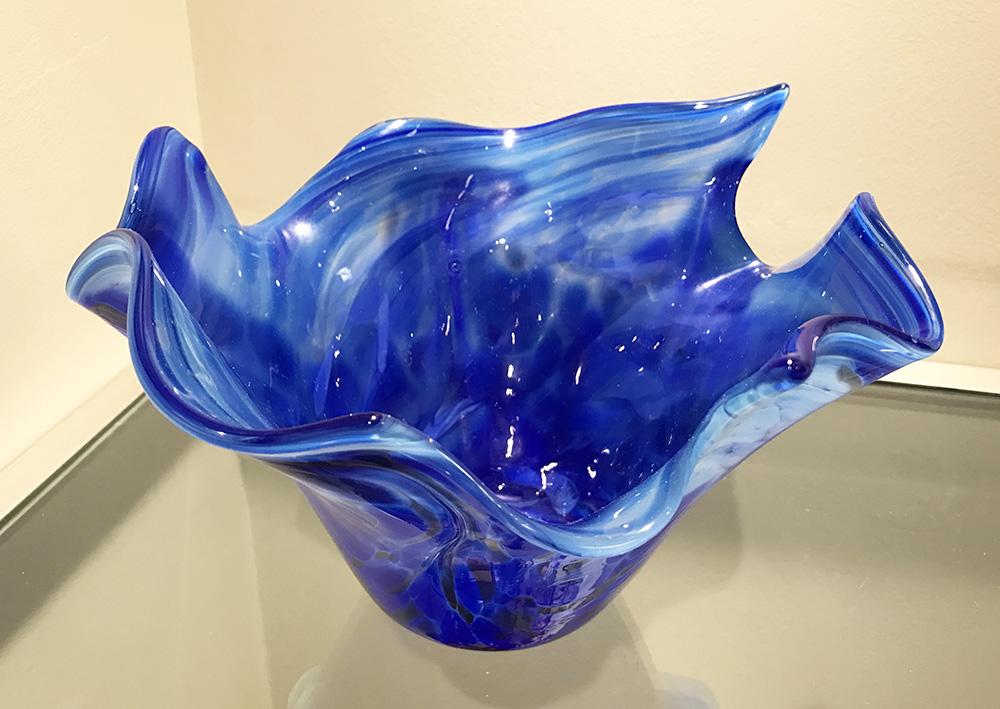 (SOLD) Wave Bowl, Lapis Dunkelblau (17-24630)