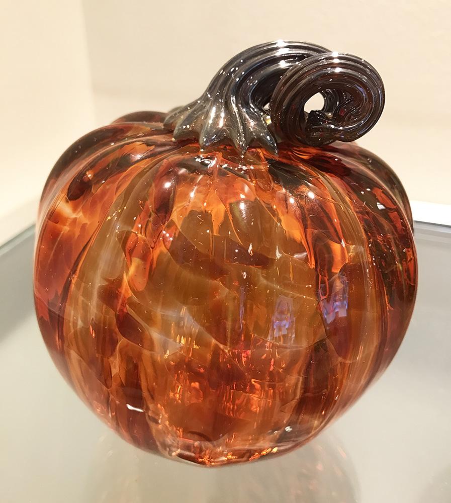 Glass Pumpkin, Peach (17-24648)