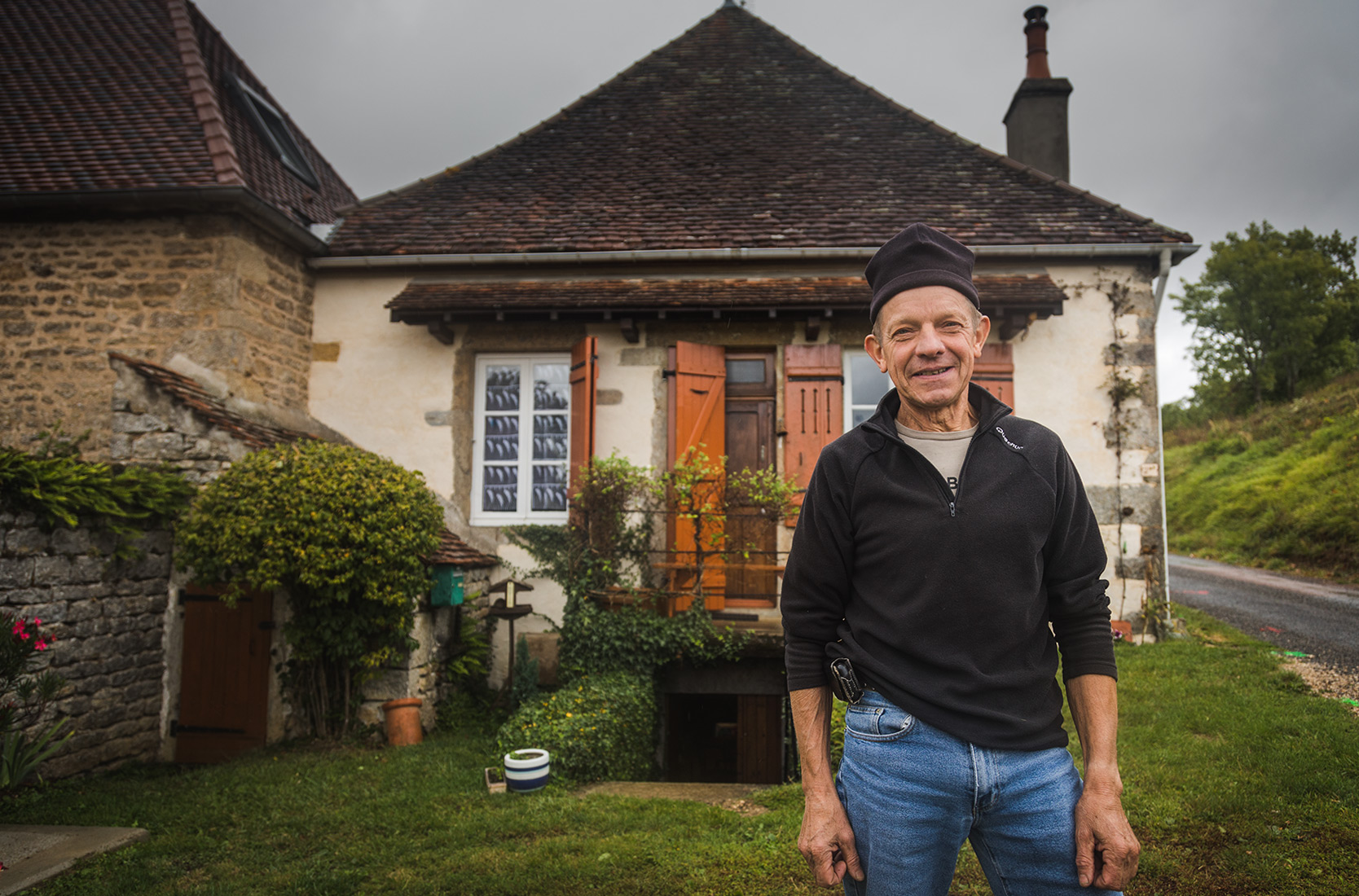 Bernard at the Domaine De Cromey