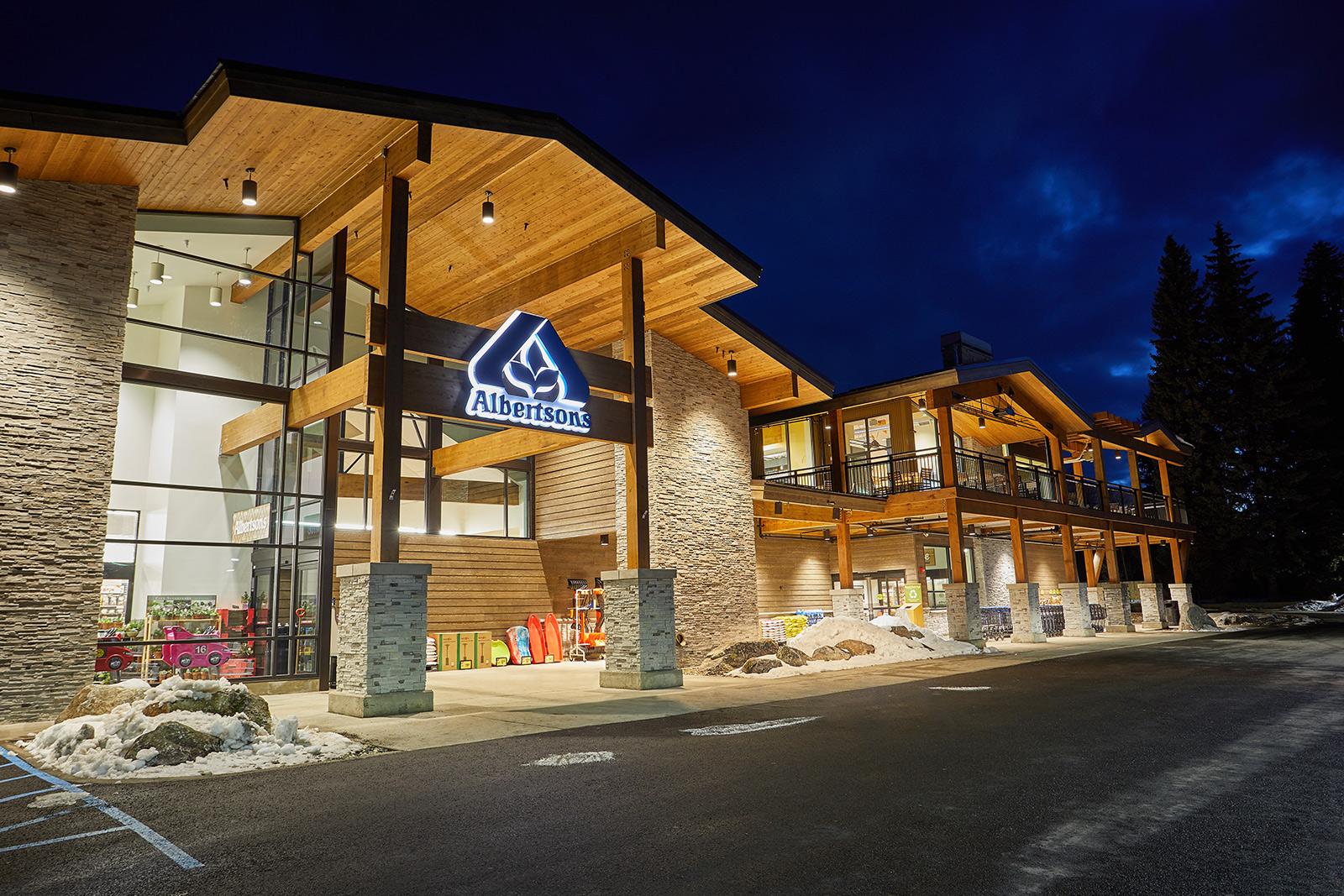 Albertson exteriors in McCall, Idaho