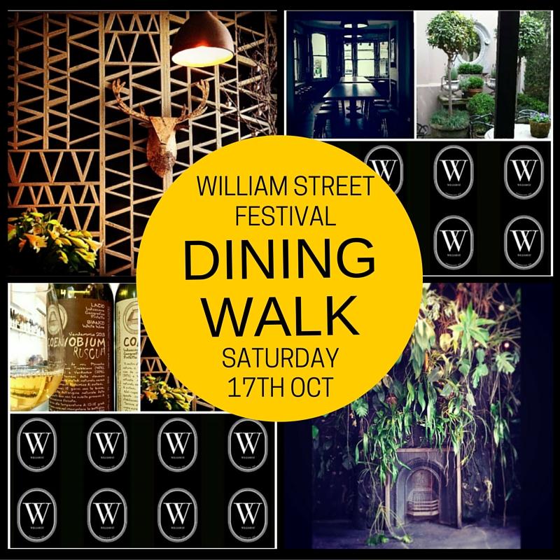 Poster artwork for William Street Festival
