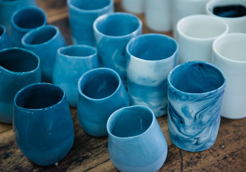 Resin vessels for Sydney Craft Week