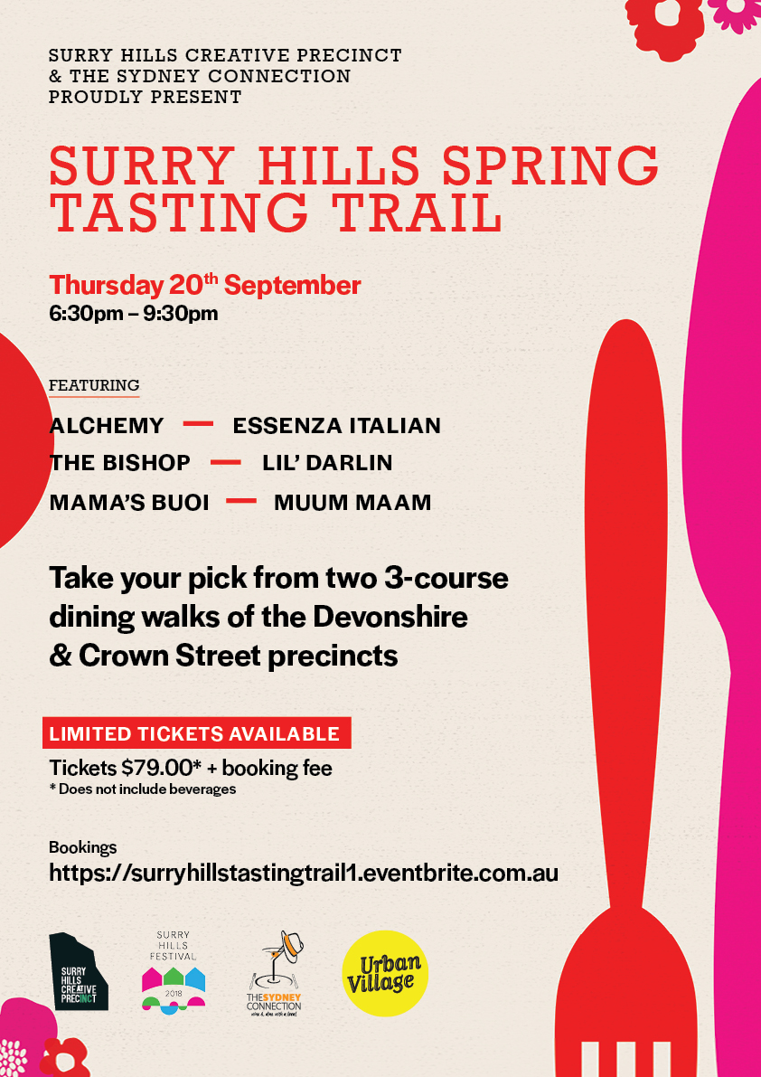 Poster for Surry Hills Tasting Trail