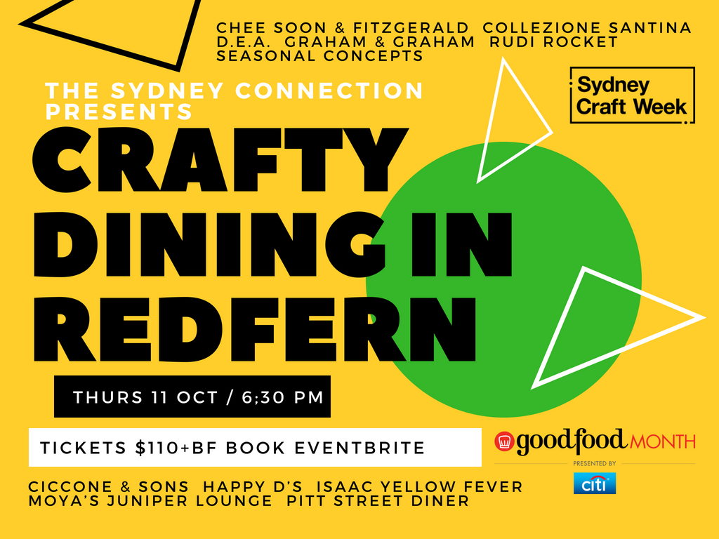 Poster for Crafty Dining Redfern