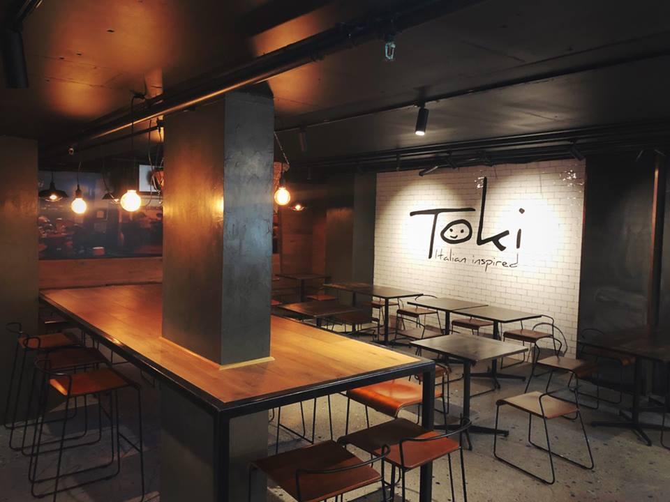 Interior of Toki Italian East Sydney