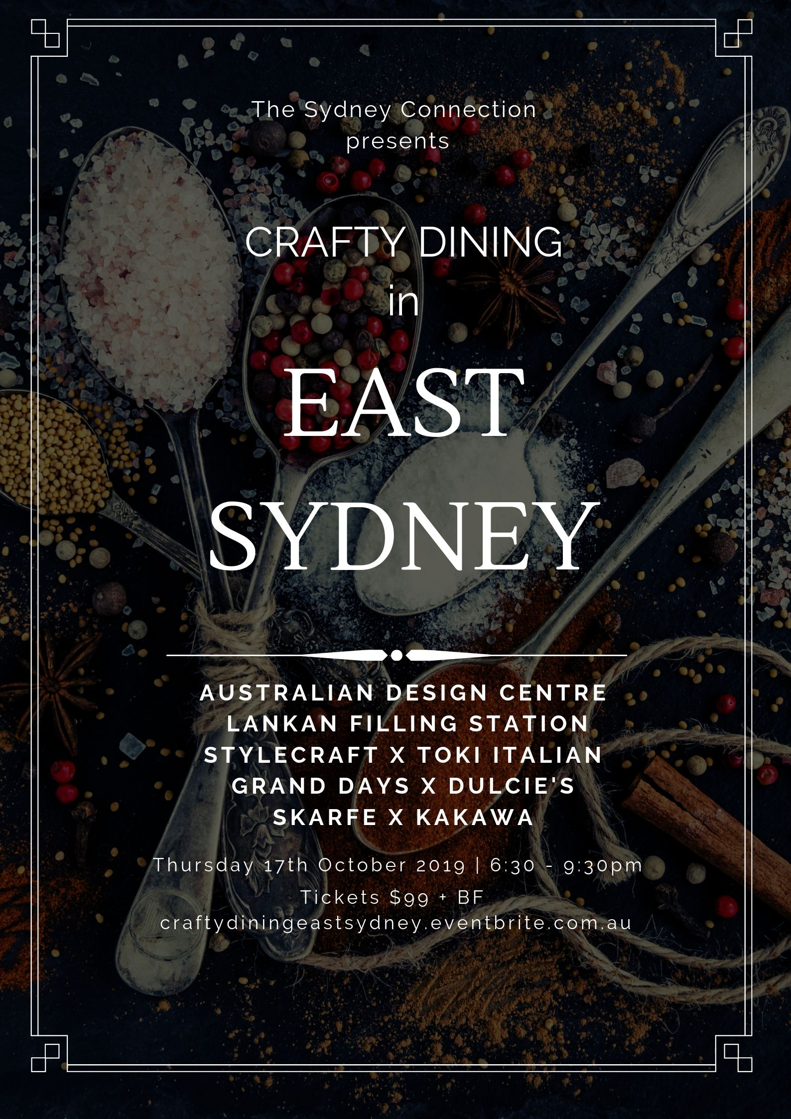 Poster for Crafty Dining East Sydney