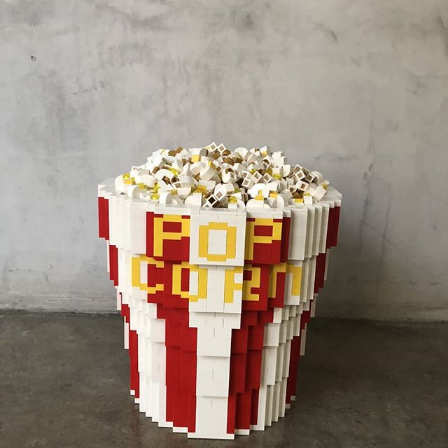 Yo LA! The @Popupmagazine Escape Issue is hitting The Theater at Ace Hotel tomorrow night!  I collabed with @supervsn to build some super fun stuff for the event. Some other amazing LEGO artists like @andybauch & @seankenneyart made great stuff too!  Here's some 🍿 to kick off the show. Swipe for some peeks inside the bucket... #peaceandbricks #adamward #lego #legoart #legoartist #afol #popupmag #acehotel #popcorn