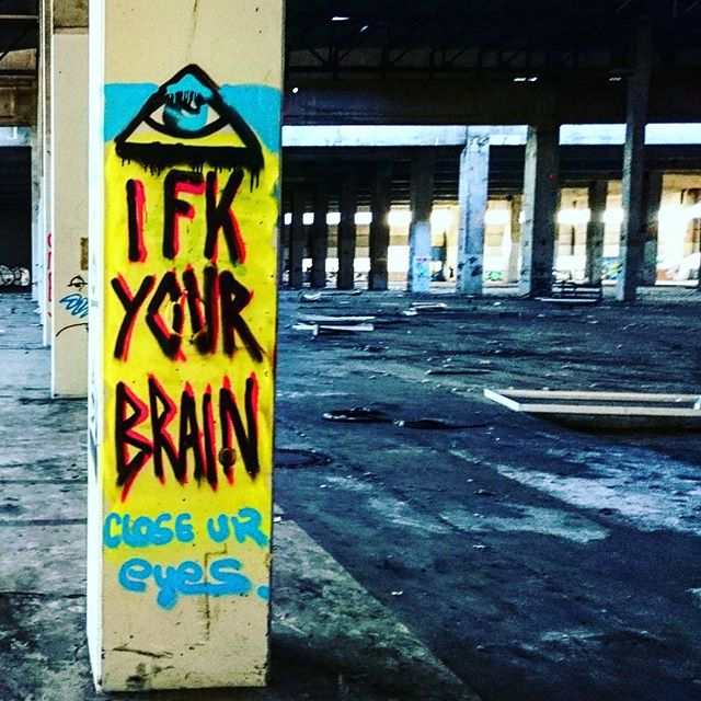 #ifkyourbrain #graffiti #closeyoureyes #eye